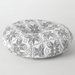 Gray and white Christmas pattern. Floor Pillow