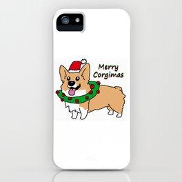 Merry Corgimas iPhone Case