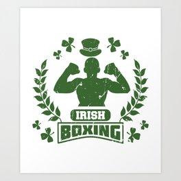 Irish Boxing design Gift for Men and Women Art Print