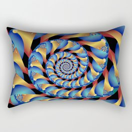 Archimedes' Blue & Gold Tangent Rectangular Pillow