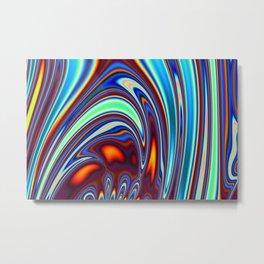 Marble Lava 30 magic fluid digital Hi Res Metal Print