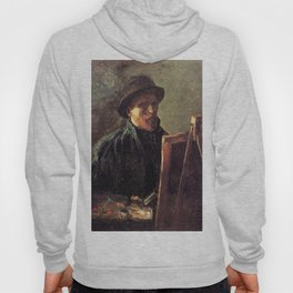 Self-Portrait with Dark Felt Hat at the Easel by Vincent van Gogh Hoody