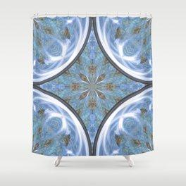 Blue Lenses Shower Curtain