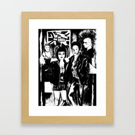 Alternative fashion and leather jacket style at the club Framed Art Print