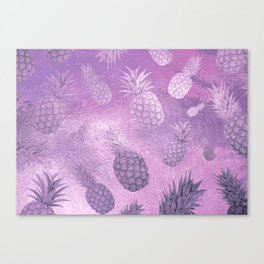Ananas Fruit Pattern 3 Canvas Print