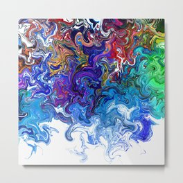 Color cascade Metal Print