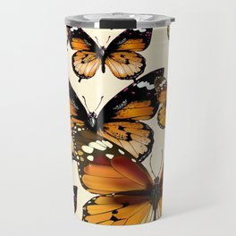 COFFEE & CREAM COLORED BROWN BUTTERFLIES Travel Mug