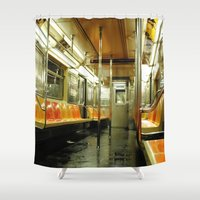 subway Shower Curtains featuring Subway by Bryan McKinney