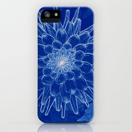 flower on blue iPhone Case