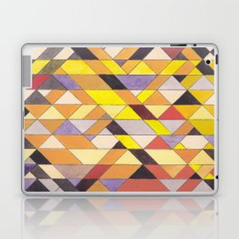Triangle Pattern No.8 Black and Yellow Laptop & iPad Skin
