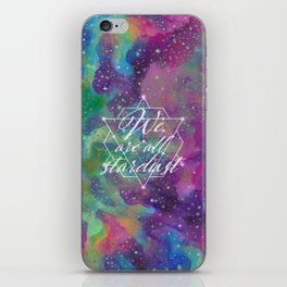 We Are All Stardust Watercolor Sacred Geometry iPhone Skin