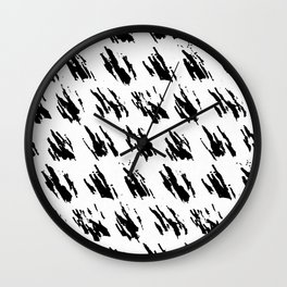 Polka Splotch Black Ink on Paper Wall Clock