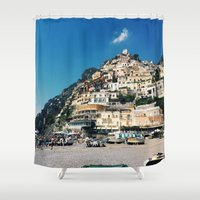 greece Shower Curtains featuring Greece by maargopolo