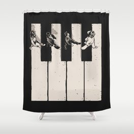 Music is the Way Shower Curtain