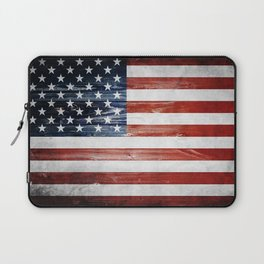 American Wooden Flag Laptop Sleeve