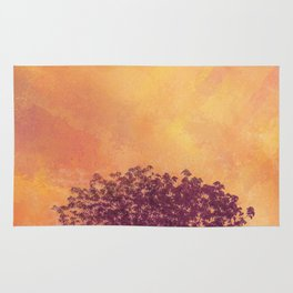 Red Violet Lone Tree and Fall Sunlight Rug