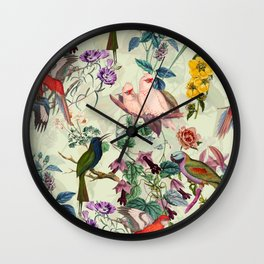 Floral and Birds VIII Wall Clock