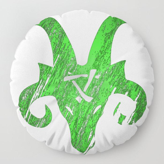 Green Horned Skaven Floor Pillow