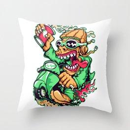 GREEN - Scooter Throw Pillow