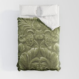 Celery Tooled Leather Comforters
