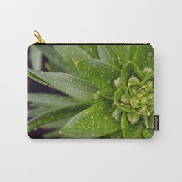 Asian Lily Plant After Rain Carry-All Pouch