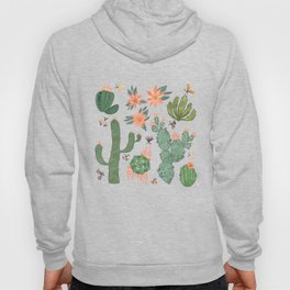 Succulents in Blue Hoody