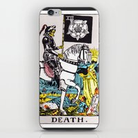 tarot iPhone & iPod Skins featuring Tarot: Death by annaXsalt
