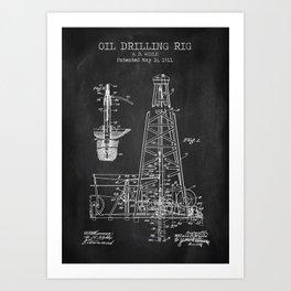 Oil Drilling Rig Art Print