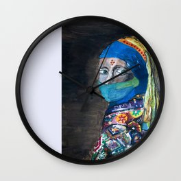 The Girl with the Blue Hijab Wall Clock