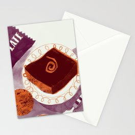 Let Them Eat Cake - Chocolate Orange Brownie Stationery Cards