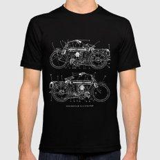 Motorcycle blueprint Black MEDIUM Mens Fitted Tee