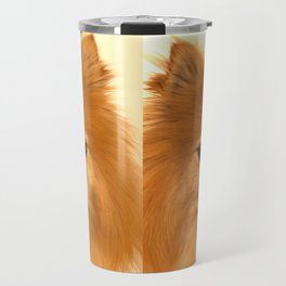 Angry Pomeranian dog Travel Mug