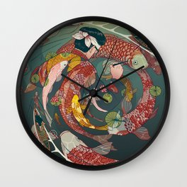 Ukiyo-e tale: The creative circle Wall Clock