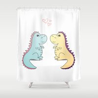 dinosaurs Shower Curtains featuring Dinosaurs by LifeSmiles