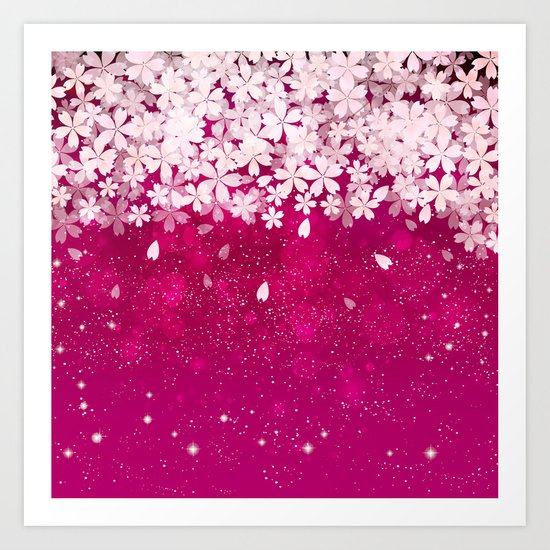 Cherry blossom #13 Art Print