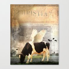 Cow with Wings Canvas Print