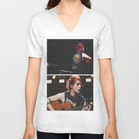 5 seconds of summer V-neck T-shirts featuring 5 Seconds of Summer - Michael by Fan_Girl_Designs