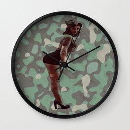 Sexy Military Gal Wall Clock