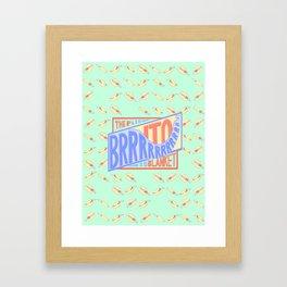 The Brrrrito Blanket Framed Art Print