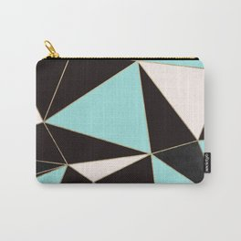 Elegant pink teal black abstract geometrical Carry-All Pouch