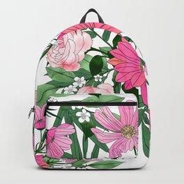 Boho chic garden floral design Backpack