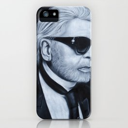 Karl Lagerfeld by chalk iPhone Case