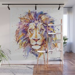 Lion Head Wall Mural