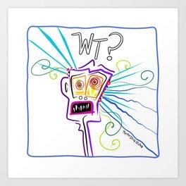 WHAT THE ?? EMOJI Meemogie Art Art Print
