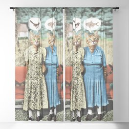 Two Cool Kitties: What's for Lunch? Sheer Curtain