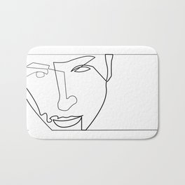 Line Art - Stare Bath Mat