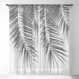 Black Palm Leaves Dream - Cali Summer Vibes #2 #tropical #decor #art #society6 Sheer Curtain