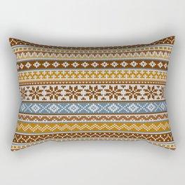 Fair Isle Toffee Rectangular Pillow