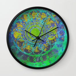 Green in my heart Wall Clock