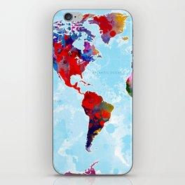 World Map - 3 iPhone Skin